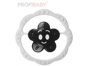 PROFIBABY Baby chrastítko kruh hvězdička kytička černobílé pro miminko
