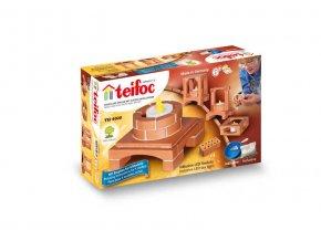 TEIFOC Deco box svítící 4020 *Stavebnice cihly s maltou*