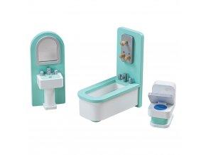 Tidlo Dřevěný nábytek koupelna tyrkysová