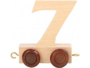 Vagónek dřevěné vláčkodráhy - přírodní číslice - číslo 7