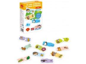 ALEXANDER Hra školou Co jedí zvířátka naučná hra v krabici