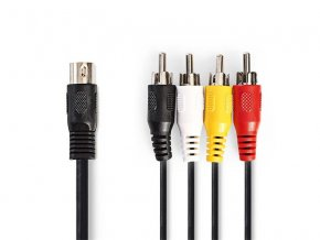 Kabel NEDIS DIN konektor/4xCINCH konektor 1m