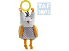 125898 taf toys baby chrastitko sova vibrujici obi s klipem pro miminko