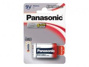 Baterie 6F22 (9V) alkalická PANASONIC Everyday Power 6LR61 1BP