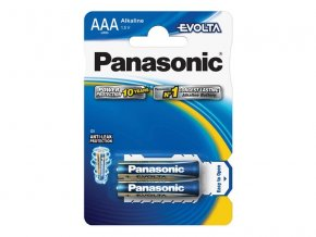 Baterie AAA (R03) alkalická PANASONIC Evolta 2BP
