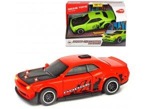 DICKIE Auto Dodge Challenger SRT Hellcat na baterie Světlo Zvuk 2 barvy