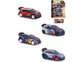 MAJORETTE Autíčko sportovní kovové WRC set se sběratelským boxem
