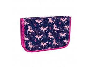 Penál jednopatrový Pink Unicorn STIL