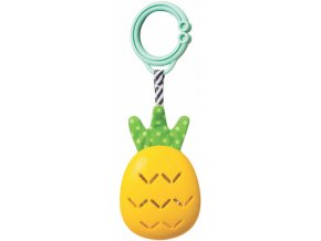 TAF TOYS Baby chrastítko činely ananas s klipem na zavěšení pro miminko