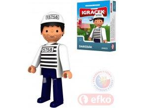 EFKO IGRÁČEK Darebák figurka vězeň 7,5cm v krabičce STAVEBNICE