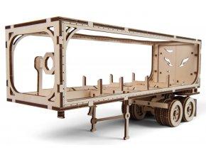 Ugears 3D dřevěné mechanické puzzle Návěs pro tahač Heavy Boy