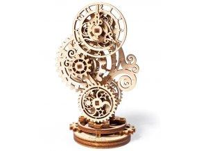 Ugears 3D dřevěné mechanické puzzle Steampunkové hodiny