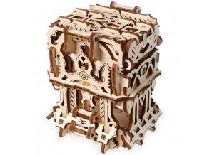 Ugears 3D dřevěné mechanické puzzle Schránka na karty
