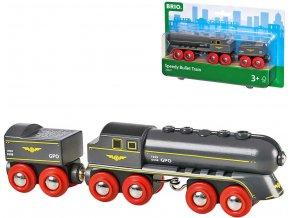 258020 brio drevo set lokomotiva vagon na uhli vlak rychla strela