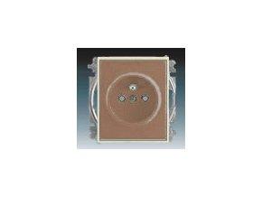 3198 zasuvka jednonasobna s clonkami kavova ledova opalova 5519e a02357 25