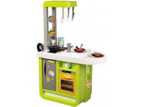 259598 smoby kuchynka detska bon appetit cherry zeleno zluta na baterie zvuk plast