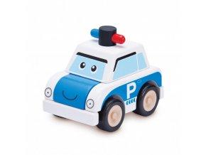 Wonderworld Dřevěné mini policejní auto