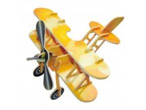 Woodcraft Dřevěné 3D puzzle letadlo dvojplošník