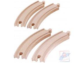 226232 woody drevo kolej kulata dlouha oblouk set 4ks prislusenstvi k vlackodraze