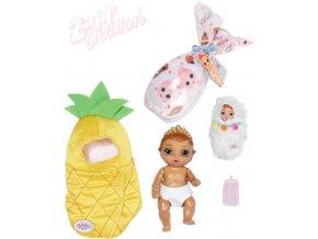 ZAPF BABY BORN Surprise 3 panenka miminko v uzlíčku pije čůrá různé druhy