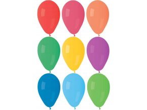 GEMAR Balónek nafukovací kulatý pastelové barvy 21/66cm 8 barev A80
