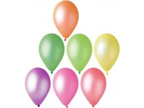 GEMAR Balónek nafukovací kulatý fluorescenční 26/82cm lesklý 7 barev GF90