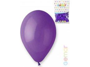 GEMAR Balónek nafukovací 26cm Pastelový FIALOVÝ 1ks