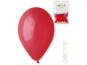 GEMAR Balónek nafukovací 26cm Pastelový ČERVENÝ 1ks