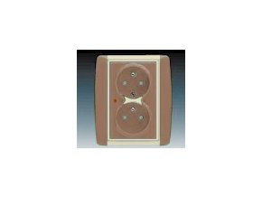 3266 zasuvka dvojnasobna s ochranou kavova ledova opalova 5592e c02359 25