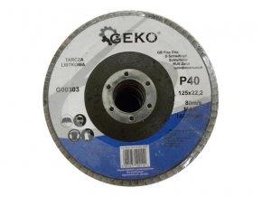 Kotouč lamelový 125mm P40 GEKO G00303