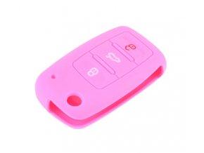 290093 obal na klice skoda octavia i 1996 2010 pink silikon