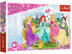 TREFL PUZZLE Disney Oblíbené princezny skládačka 33x22cm 60 dílků
