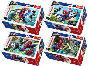 TREFL PUZZLE Spiderman Proti padouchům mini 20x13cm 54 dílků 4 druhy