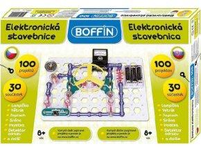 359113 boffin 100 elektronicka stavebnice 100 projektu na baterie 30ks v krabici