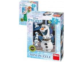 DINO Puzzle Disney pohádky 54 dílků 20x13cm různé druhy skládačka v krabici