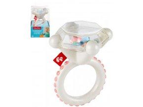 FISHER PRICE Baby kroužek prstýnek s diamantem kousátko pro miminko