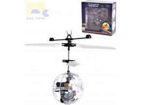 MAC TOYS Levitující planetka koule magická vrtulníková ovládání dlaní LED Světlo
