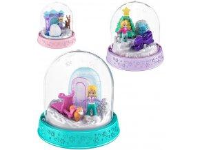MATTEL Polly Pocket sněhová koule vánoční ozdoba dekorace s panenkou 4 druhy
