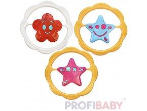 PROFIBABY Kruh Hvězdička / Kytička baby chrastítko různé druhy plast