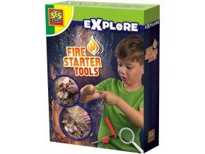 SES CREATIVE Sada na rozdělávání ohně malý zálesák v krabici