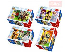 TREFL PUZZLE Mini skládačka Toy story 4 set 54 dílků v krabici 4 druhy