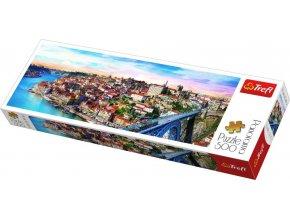TREFL PUZZLE Panoramatické foto Portugalsko skládačka 66x23,5cm 500 dílků