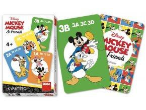 DINO Hra karetní Kvarteto Mickey Mouse a kamarádi *SPOLEČENSKÉ HRY*