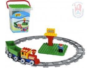 126336 androni unico plus baby stavebnice vlak 28 dilku figurka v kybliku pro miminko