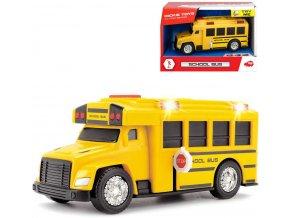 DICKIE Autobus školní žlutý volný chod na baterie Světlo Zvuk