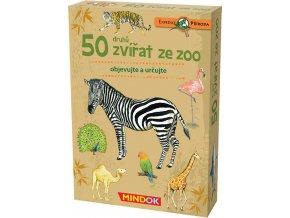 MINDOK HRA kvízová Expedice Příroda: 50 zvířat ze ZOO naučná