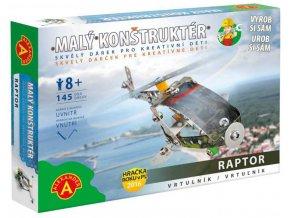 ALEXANDER Malý konstruktér Vrtulník konstrukční STAVEBNICE 104 dílků kov