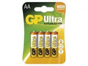 Baterie AA (R6) alkalická GP Ultra Alkaline 4ks