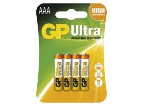 Baterie AAA (R03) alkalická GP Ultra Alkaline 4ks