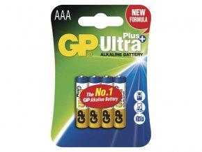 Baterie AAA (R03) alkalická GP Ultra Plus Alkaline 4ks